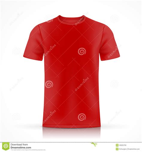 red t shirt template