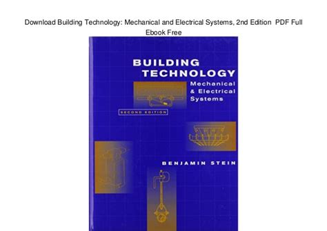 mechanical and electrical systems in buildings 6th edition what s new in trades technology books building technology mechanical and electrical