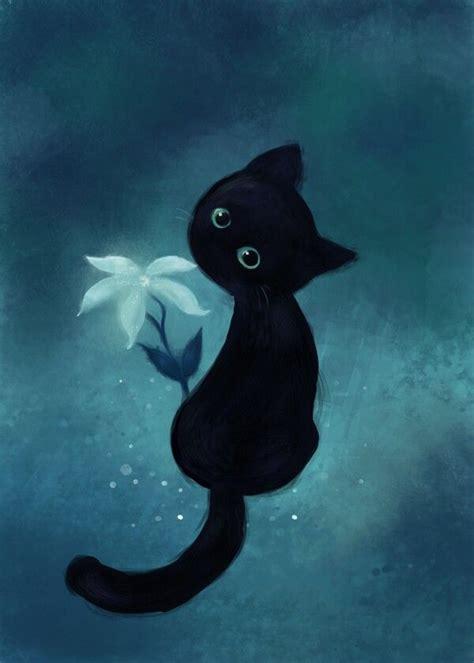 cat painting 17 best ideas about black cat on black cat