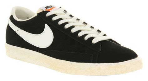 Nike Blazer Vintage Low Suede by Nike Blazer Low Vintage Black Suede Trainers Shoes Ebay