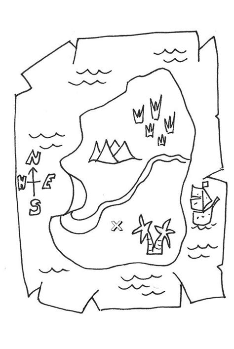 Treasure Map Coloring Pages For Kids Coloring Home Treasure Map For Coloring
