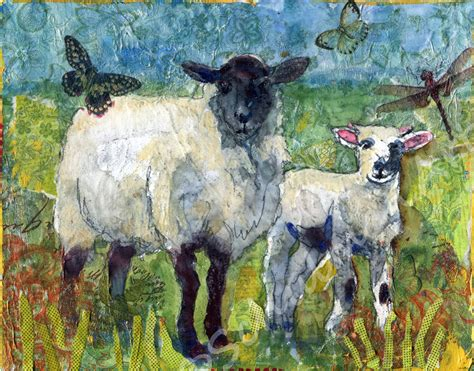 Paintings (Originals) For Sale   Sheep Painting, farm