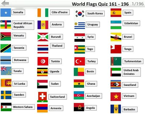flags of the world quiz game flags quiz answers 161 196 flag quiz android ios