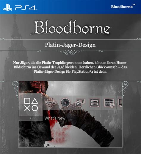 ps4 platinum themes free bloodborne ps4 theme is exclusive to platinum trophy