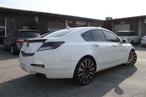 2009 acura tl with black roof wrap acura tl customized using only vinyl no paint