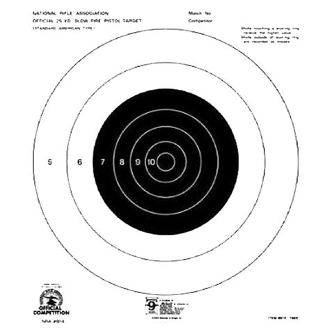 printable competition targets hoppes hoppes 9 competition 25yd slow fire pistol target