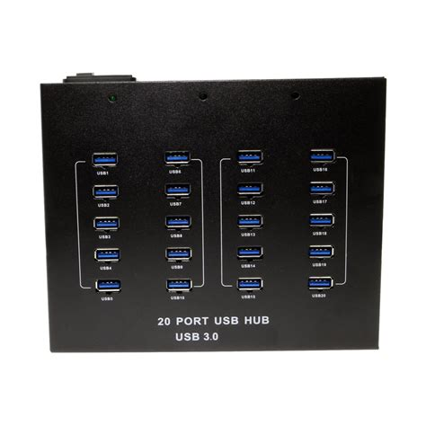 Usb Hub 20 Port 20 port usb 3 0 hub metal chassis power supply