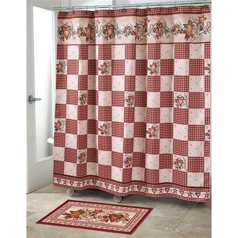primative shower curtains hearts stars berries folk art primitive checkers shower