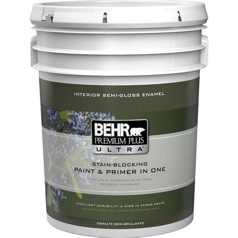 Behr Premium Plus Interior Semi Gloss Enamel by Behr Premium Plus Ultra 5 Gal Medium Base Semi Gloss