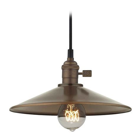 Industrial Hoyt Bronze Cone Shade Mini Pendant Light Ebay Industrial Mini Pendant Light