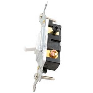 white single pole toggle switch