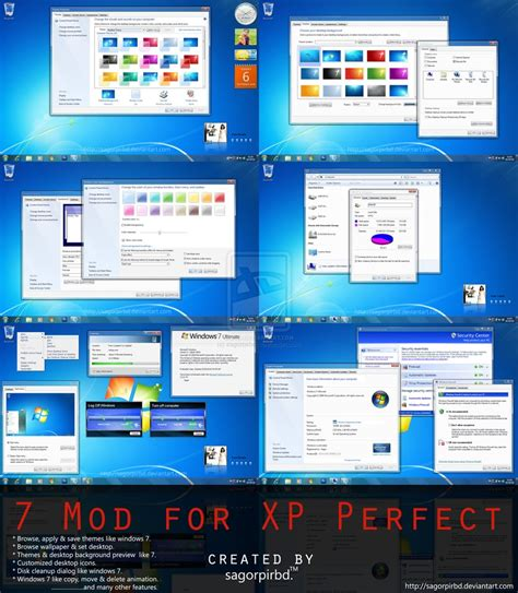 themes pc free download xp windows 7 mod for xp perfect by sagorpirbd on deviantart