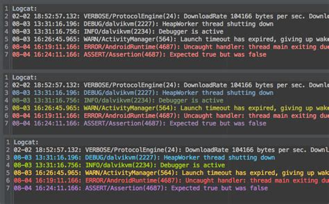 android logcat colored logcat in android studio by colorpid stack overflow