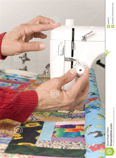 Machine Settings For Quilting by Setting Tension On Quilting Machine Stock Photography