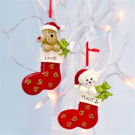 personalised pet christmas decoration by letteroom