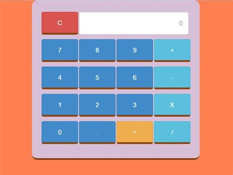 calculator using javascript and html calculator using javascript and bootstrap free source