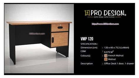 Meja Office Olympic meja tulis 1 2 biro vmp 120 vista pro design