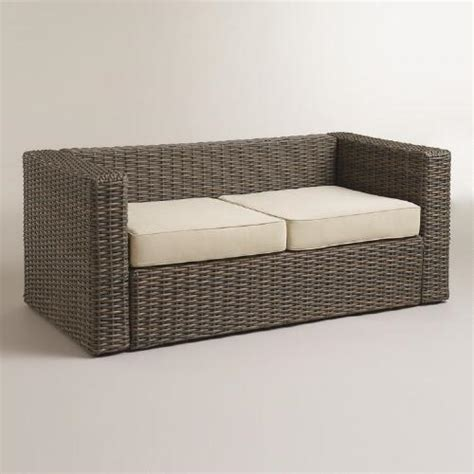 Outdoor Cushions Eumundi Markets All Weather Wicker Formentera Outdoor Bench With Cushions