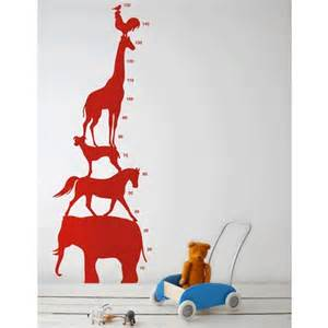 Childrens Wall Stickers Ferm Living Animal Mesuring Chart Nursery Wall Decal