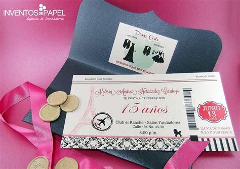 tarjetas de quince anos tarjeta de invitaci 243 n de 15 a 241 os par 237 s tarjetas de