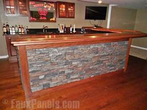 Easy Basement Wall Ideas by Buzzworthy Home Bar Designs Creative Faux Panels