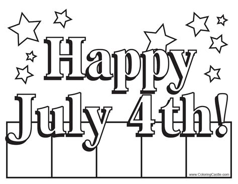 printable coloring pages for july 4th coloring activity pages