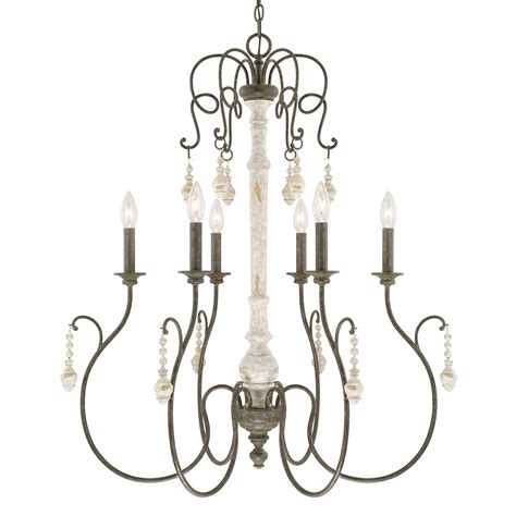 french country style light fixtures 6 light chandelier capital lighting fixture company