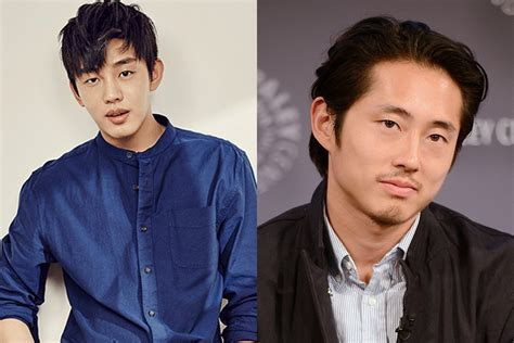yoo ah in steven yeun steven yeun and yoo ah in to star in korean movie together
