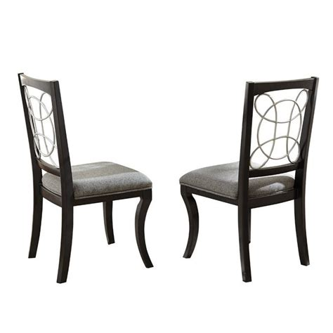 steve silver company cayman grey upholstery dining chair