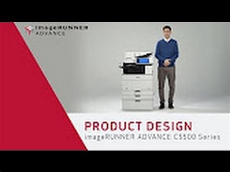 product layout youtube canon imagerunner advance c5500 series product design