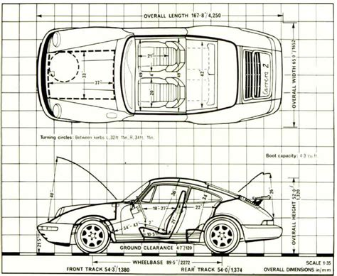 Porsche 911 Size Technical Drawings 964 Turbo 3 6 Rennlist Discussion Forums