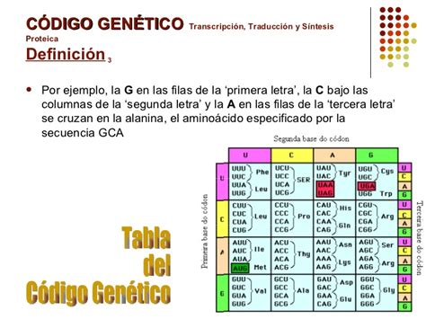 el codigo de la 0979553741 codigo genetico