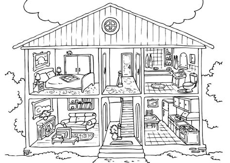 house colouring free printable house coloring pages for