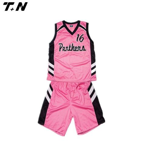jersey design color pink reversible sublimation printing women s basketball