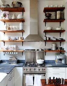 open shelving in kitchen ideas reclaimed wood shelves for eco stylish interiors