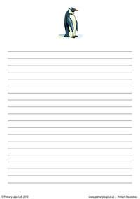 penguin writing paper free year 7 printable resource worksheets for
