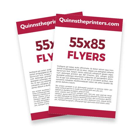 cheap 55x85 flyer printing for trade quinnstheprinters com