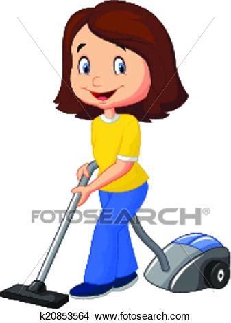 creare clipart clipart mam 225 caricatura con aspiradora k20853564