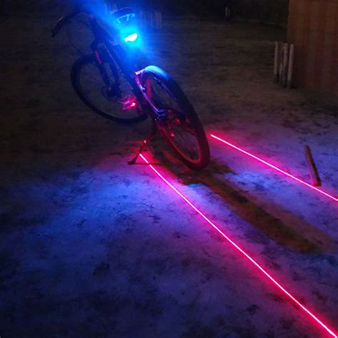 aliexpress com buy 5led 2laser bike lights new