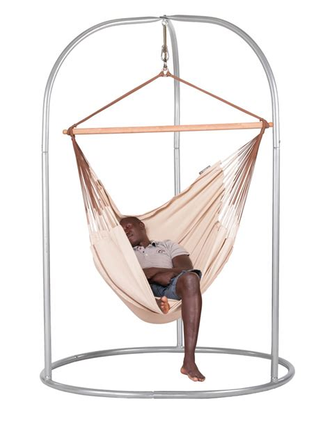 Hammock Chair With Stand by Habana Nougat Lounger Hammock Chair With Powder Coated