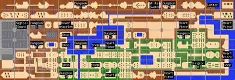 legend of zelda world map overworld maps the legend of zelda walkthrough