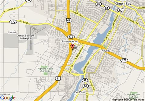 green bay map map of 8 motel green bay green bay