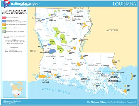 indian reservations usa map map of louisiana map federal lands and indian