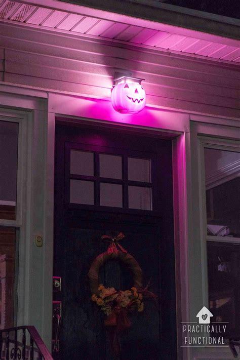 pumpkin porch light cover diy pumpkin porch light for