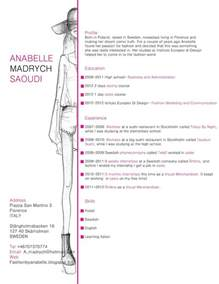 25 Best Ideas About Fashion Resume On Pinterest Fashion