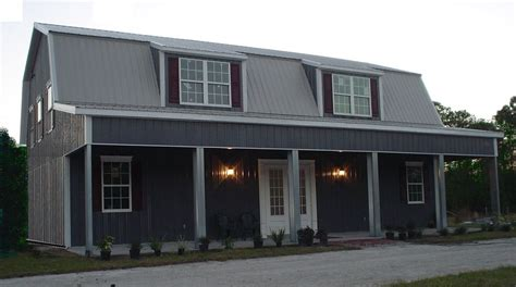 Metal Shop With Living Quarters Floor Plans by Steel Metal Home Gambrel Building Shell Kit 3500 Sq Ft Ebay