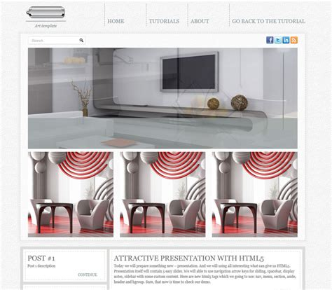 html5 layout design tools creating new html5 css3 single page layout art theme