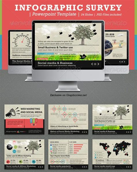 Infographic Survey Powerpoint Template Design Powerpoints Pinterest Infographic And Template Survey Infographic Template