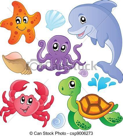 pesci clipart pesci 3 animali mare collezione animali illustration