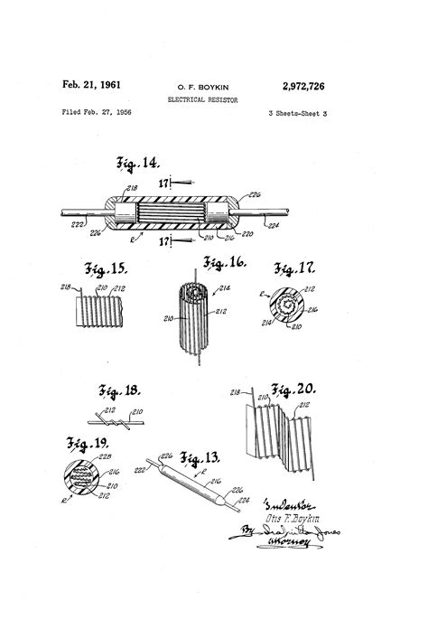 wire precision resistor otis boykin patent us2972726 electrical resistor patents